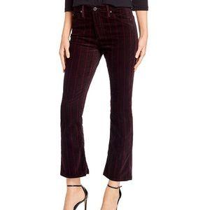 NWT AG Jodi Crop Flare Velvet Jeans